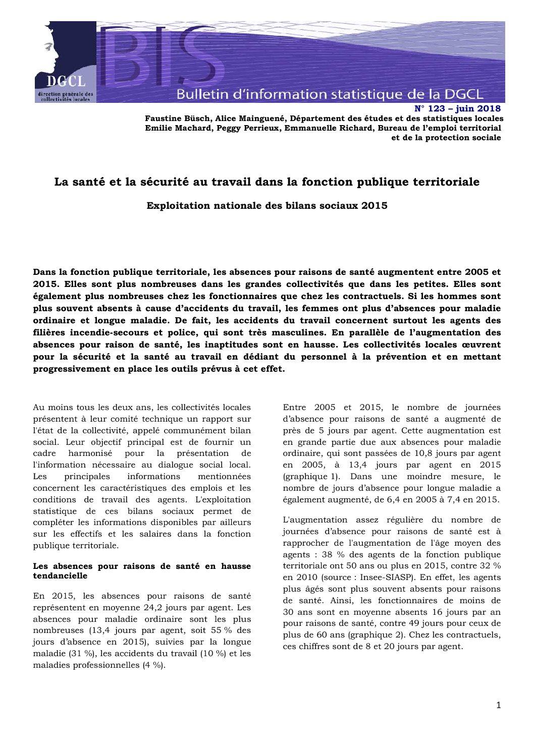 Degradation De La Sante Et La Securite Au Travail Dans La Fonction